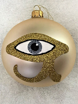 "#1954 - Thomas Glenn ""Eye of Horus"" Ball Christmas Ornament"