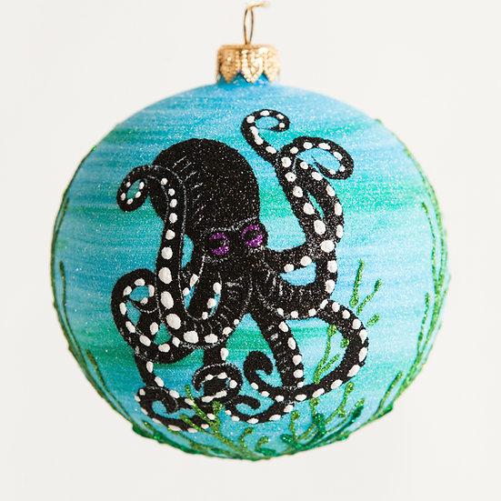 "#1842 - Thomas Glenn ""Octopus's Garden"" Ball Ornament"