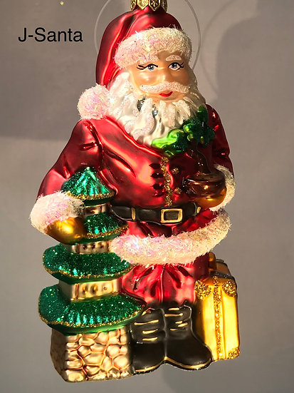 "Thomas Glenn ""Santa in Japan"" Figural Ornament #Santa-Japan"