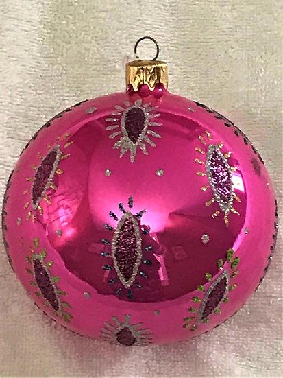 "#89PK - Thomas Glenn ""Eye on Hot Pink"" Ball Christmas Ornament"