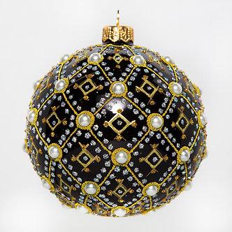 "#634BK - Thomas Glenn ""Black Pearl"" Ornament"