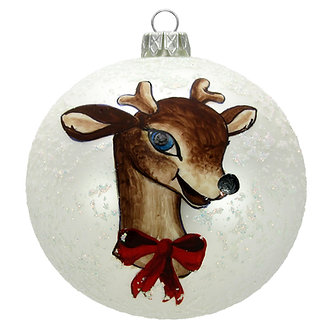 "#1519 - Thomas Glenn ""Dear Deer"" Ball Ornament"