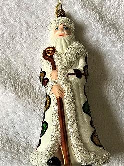 "#1755Santa - Thomas Glenn ""Santa - Green Eggs & Ham"" Figural Christmas Ornament"