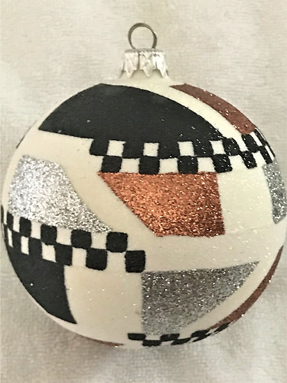 "#522 - Thomas Glenn ""Africa - Silver"" Ball Christmas Ornament"