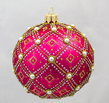 "#634PK - Thomas Glenn ""Pink Pearl"" Ornament"
