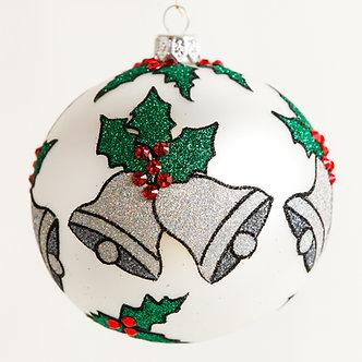 "#1830 - Thomas Glenn ""Silver Bells"" Ball Ornament"
