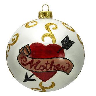 """#1636 - Thomas Glenn """"Mother Over Heart with Arrow"""" Ornament"""
