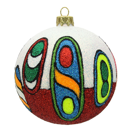"#1502 - Thomas Glenn ""Totem"" Ball Ornament"