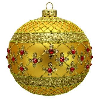 "#635GD - Thomas Glenn ""Gold Coronation"" Ball Ornament"