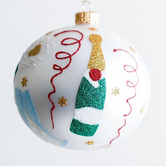 "#1927 - Thomas Glenn ""Cheers"" Ball Ornament"