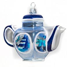 102 - Teapot - Blue & White