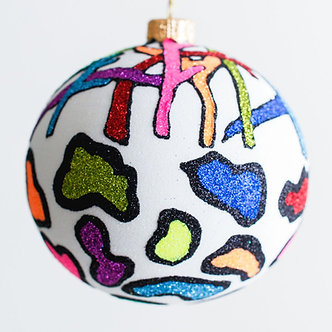 "#1902 - Thomas Glenn ""Sticks and Stones"" Ball Ornament"