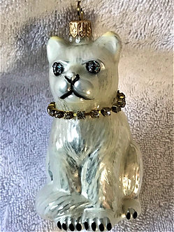 "Thomas Glenn ""Cat - White"" Molded Christmas Ornament"