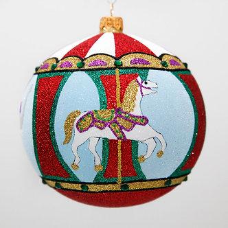 "#2062 - Thomas Glenn ""Carousel"" Ball Christmas Ornament"