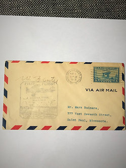 """Stamps - US Covers - """"#650 First Flight"""" 1929 - St. Louis to Omaha, Nebr."""