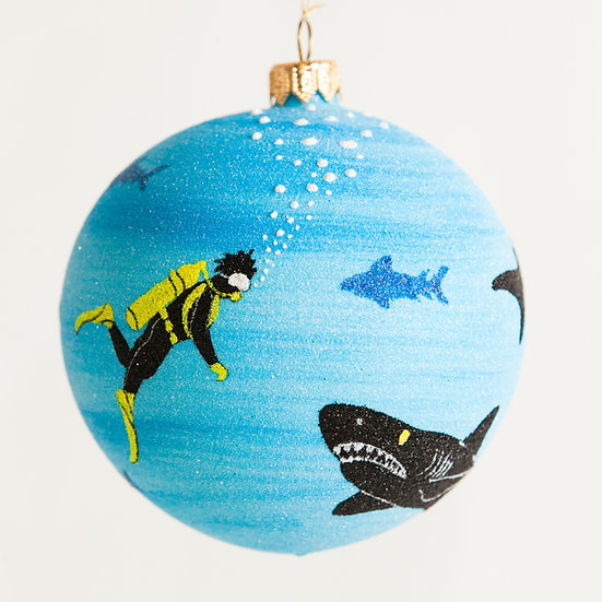 "#1820 - Thomas Glenn ""Shark Tank"" Ball Ornament"