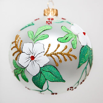 "#2049 - Thomas Glenn ""Dogwood"" Ball Christmas Ornament"