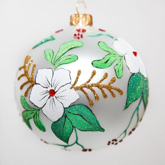 "#2049 - Thomas Glenn ""Dogwood"" Ball Christmas Ornament"