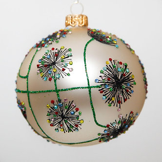 "#2056 - Thomas Glenn ""Queen Anne's Lace"" Ball Christmas Ornament"