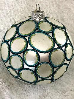 """#1529B - Thomas Glenn """"Splash"""" Ball Christmas Ornament"""