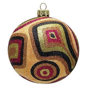 """#367S - Thomas Glenn """"Salmon Camo Christmas"""" Ball Ornament"""