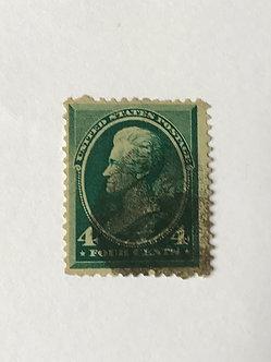 "Stamps ""US 1883 Jackson Scott #211"" 4c blue-green"