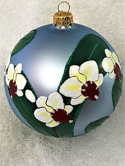 "#1736 - Thomas Glenn ""Orchid"" Ball Christmas Ornament"