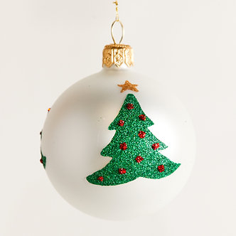 "#1871 - Thomas Glenn ""Trees"" Mini Ball Ornament"