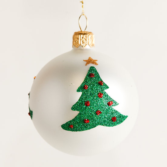 "#1871 - Thomas Glenn ""Trees"" Mini Ball Ornament"