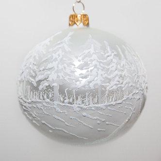 "#2054 - Thomas Glenn ""First Snowfall"" Ball Christmas Ornament"