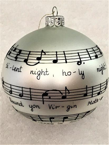 "#1949 - Thomas Glenn ""Silent Night"" Ball Christmas Ornament"