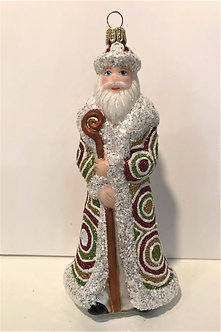 "#1823Santa - Thomas Glenn ""Santa - Hypnotized"" Molded Christmas Ornament"