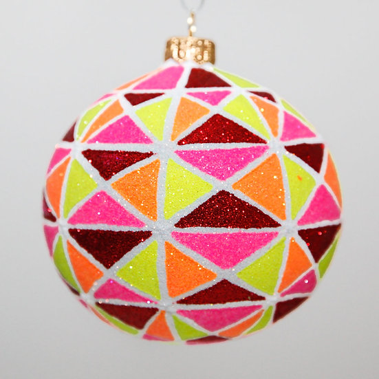 "#2096 - Thomas Glenn ""Sun Burst"" Ball Christmas Ornament"
