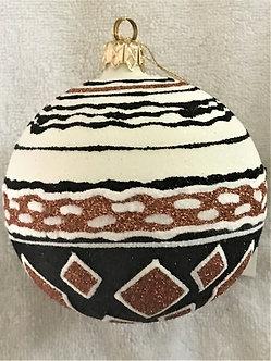 "#523 - Thomas Glenn ""Africa - Diamonds"" Ball Christmas Ornament"
