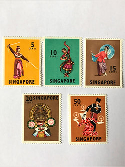 "Stamps ""SIngapore #86/93"" 5 values, Mint"