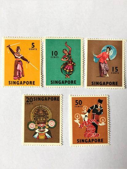 "Stamps ""SIngapore #86/93"" 5 values, Mint"