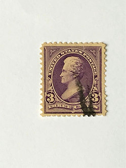 "Stamps ""US 1895 Jackson Scott #268"" 3c purple"