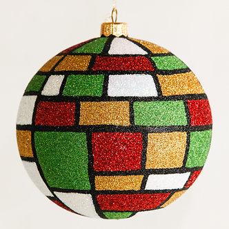 """#1601Xmas - Thomas Glenn """"Mondrian Christmas"""" Ball Ornament"""