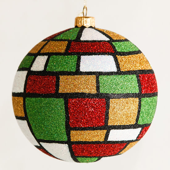 "#1601Xmas - Thomas Glenn ""Mondrian Christmas"" Ball Ornament"
