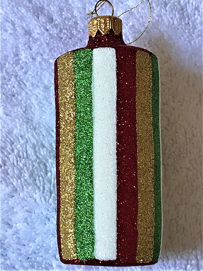 "#1648 - Thomas Glenn ""Christmas Cylinder"" Cylinder Christmas Ornament"