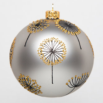 "#1624 - Thomas Glenn ""Wild Flowers"" Ball Ornament"