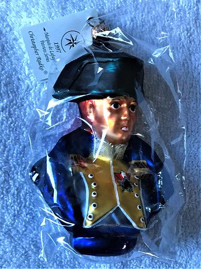 "Christopher Radko - ""General Lafayette"" Molded Christmas Ornament"
