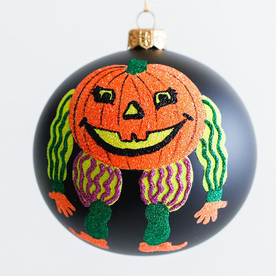 "#1974 - Thomas Glenn ""Pumpkin Head"" Halloween Ball Ornament"