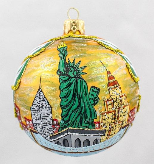 "#915 - Thomas Glenn ""New York"" Ball Ornament"