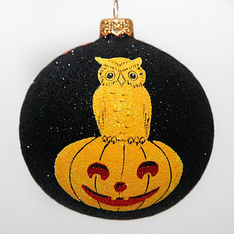 "#2094 - Thomas Glenn ""Potter's Pals"" Ball Halloween Ornament"