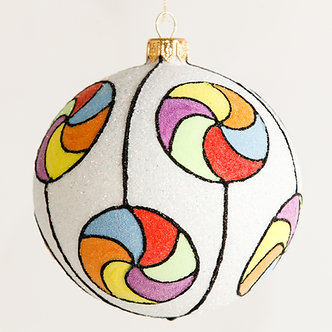 "#1811 - Thomas Glenn ""Lollipops"" Ball Ornament"