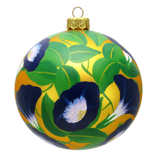 "#1644 - Thomas Glenn ""Morning Glories"" Ornament"