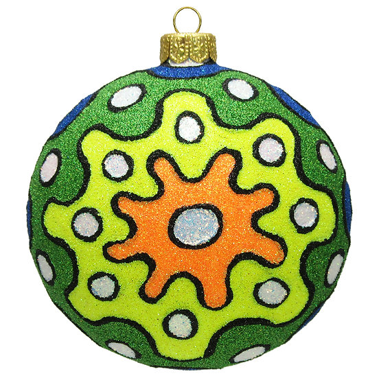 "#1504Hot - Thomas Glenn ""Hot Colorful Pop Art"" Ball Ornament"
