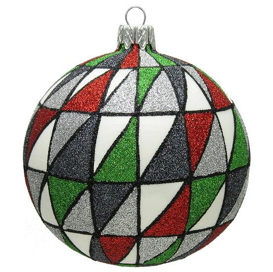 "#1617 - Thomas Glenn ""Christmas Window"" Ball Ornament"