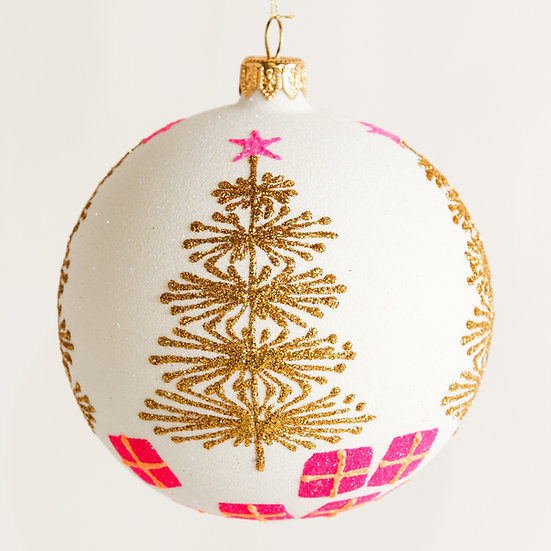 "#1826 - Thomas Glenn ""Sparkler"" Ball Ornament"
